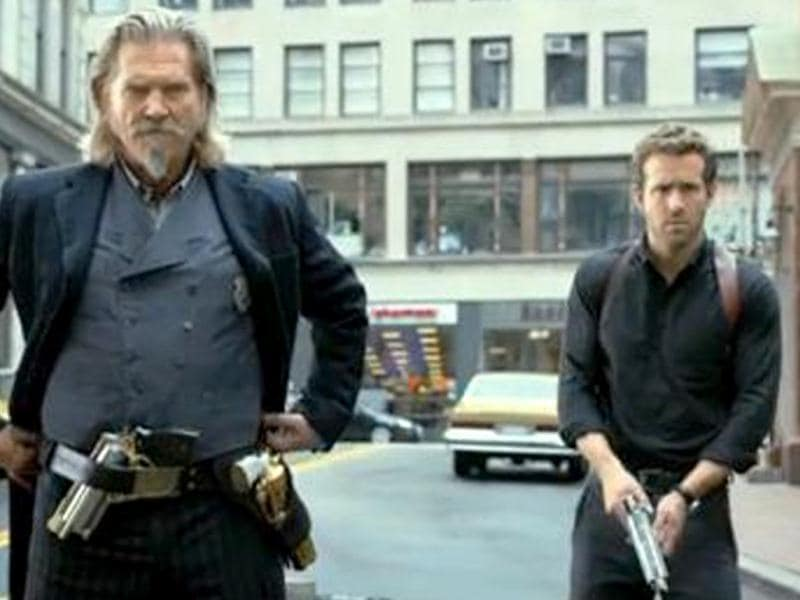Jeff Bridges and Ryan Reynolds in a still from R.I.P.D.