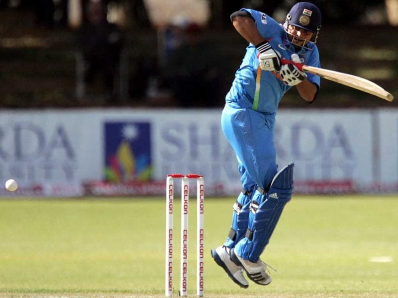 Suresh Raina is pictured in action during the 4th match of the 5-match cricket ODI series between Zimbabwe and India at Queen's Sports Club in Harare. (AFP Photo)