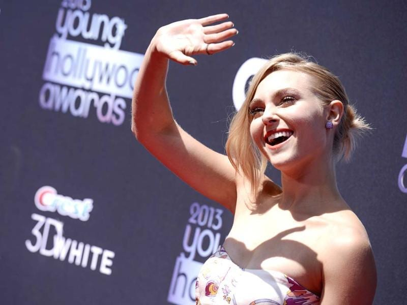 Actress AnnaSophia Robb arrives at the 2013 Young Hollywood Awards at The Broad Stage in Santa Monica, California. (AP Photo)