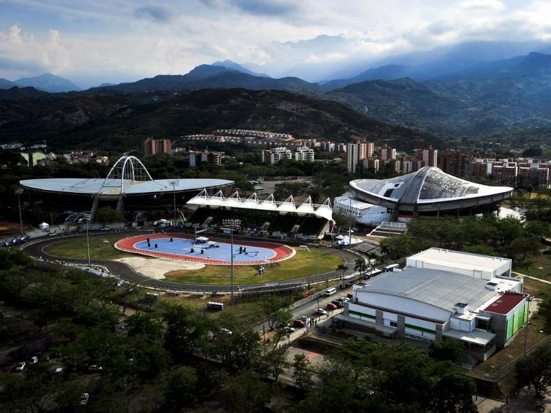 General view of the Alcides Nieto Patino Velodrome, Mundialista Roller Skating Rink, Del Pueblo Coliseum, Bowling Coliseum during the World Games 2013, in Colombia. (AFP Photo)