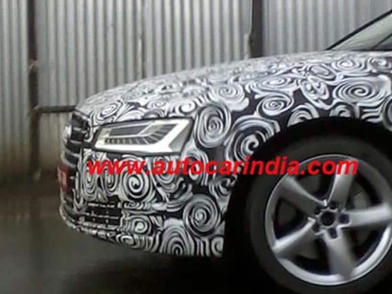Audi A8 facelift spied in India