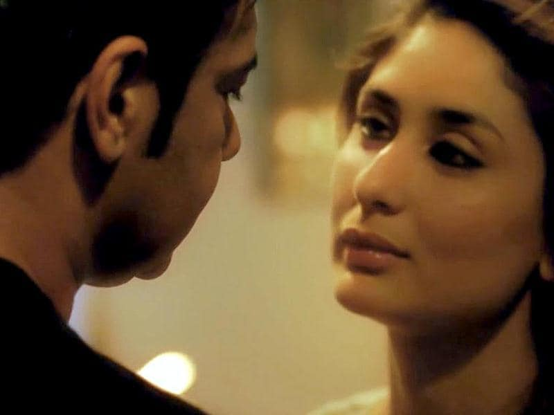 Kareena Kapoor and Ajay Devgn in an intense moment from Satyagraha.