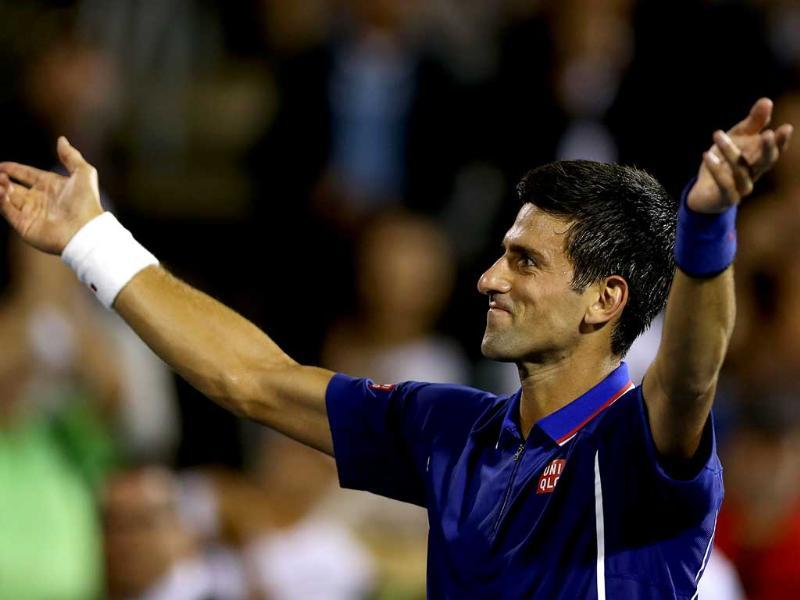 Novak Djokovic of Serbia acknowledges the crowd after defeating Florian Mayer of Germany during the Rogers Cup in Montreal, Canada. (Getty Images)
