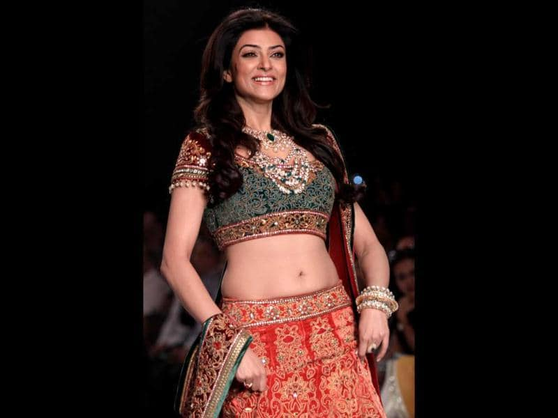 Sushmita walked the ramp for Charu Jewels. (AFP Photo)