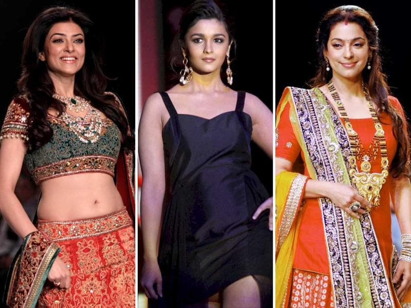 Bollywood heroines marked their presence and how at the International Jewellery Week in Mumbai.