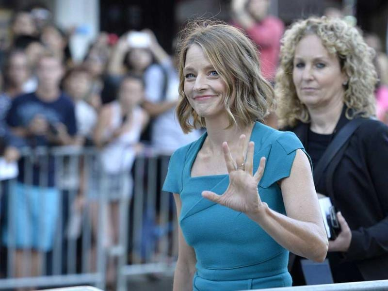 Jodie Foster arrives at the premiere of TriStar Pictures' Elysium at Regency Village Theatre in Westwood, California. AFP photo
