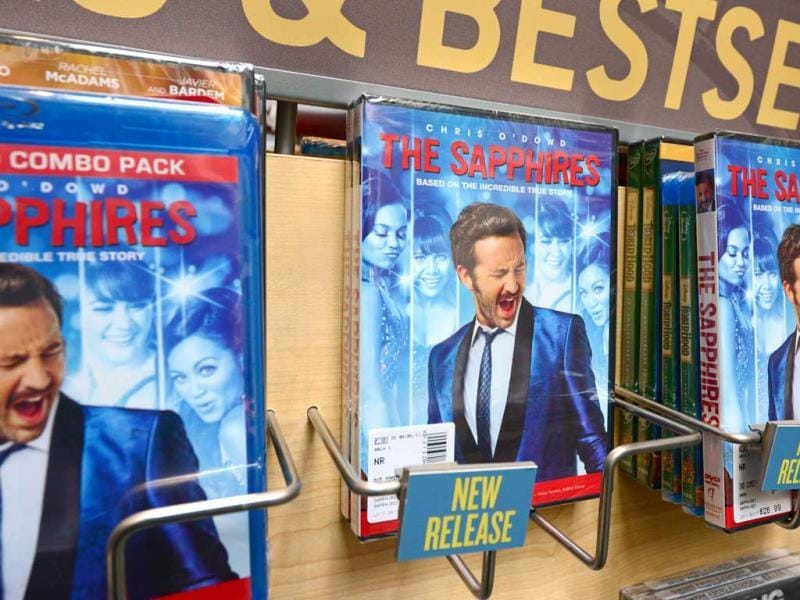 The DVD of the film The Sapphires is seen for sale at a book store in Glendale, California. AFP photo
