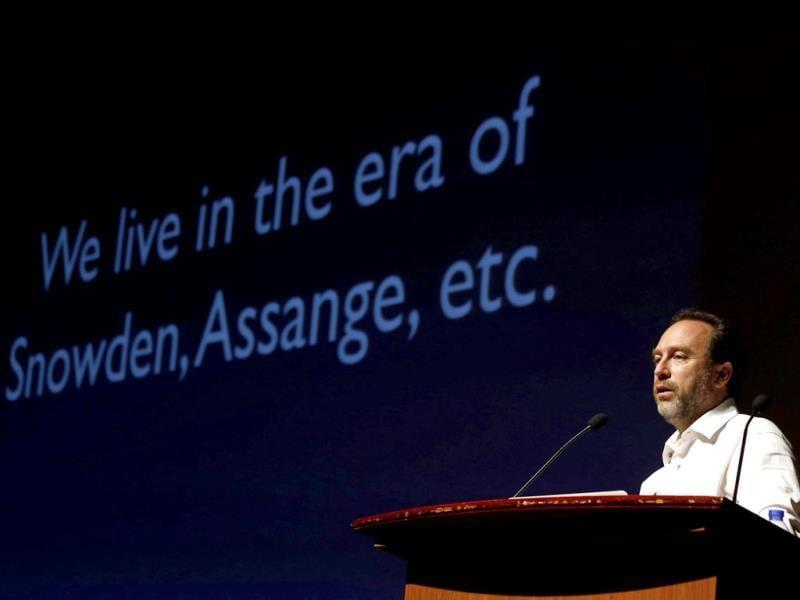 Wikipedia founder Jimmy Wales attends the international Wikimedia conference in Hong Kong. Reuters photo