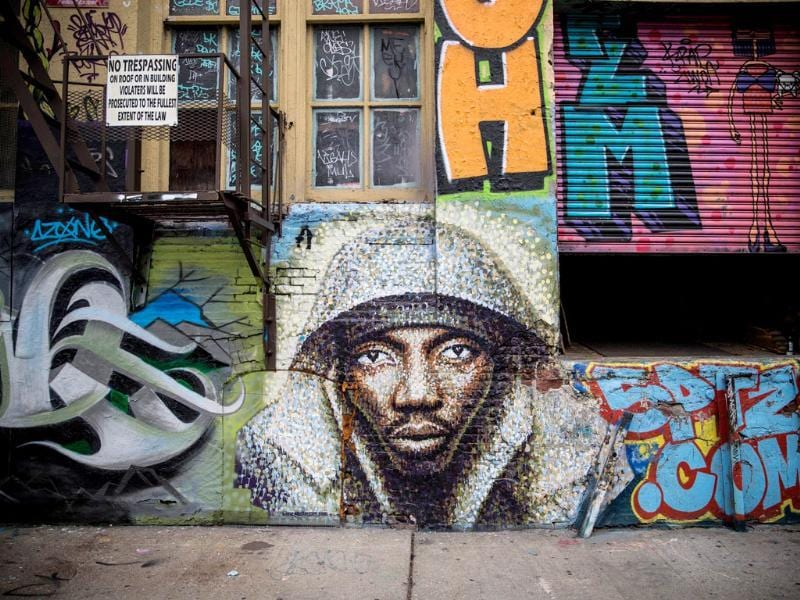 5 Pointz is a series of properties that graffiti artists use as an outdoor art exhibit space. It is considered the Mecca of the graffiti world. The space has been used as a space for graffiti artists since the early 1990s. (AFP Photo)