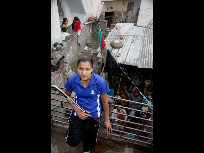 Rani Rampal, who plays for the junior women's hockey team, was the