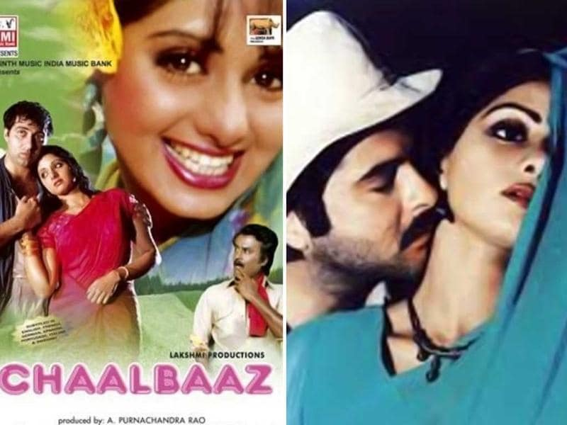 Chirpy and stylish: Chaalbaaz (1989) and Mr India (1987) explored the naughty side of Sridevi.