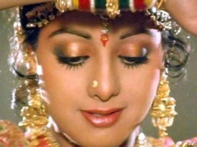 Romantic diva: Sridevi looks ethereal in Yash Chopra's Chandni. She was paired opposite Rishi Kapoor in this classic tale of love.