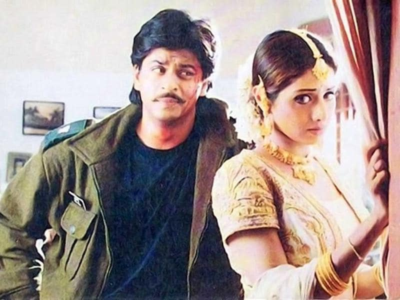 Revenge maiden: Sridevi avenges SRK's brutal murder in Army (1994) with the help of her 'army' which is basically a group of convicts.