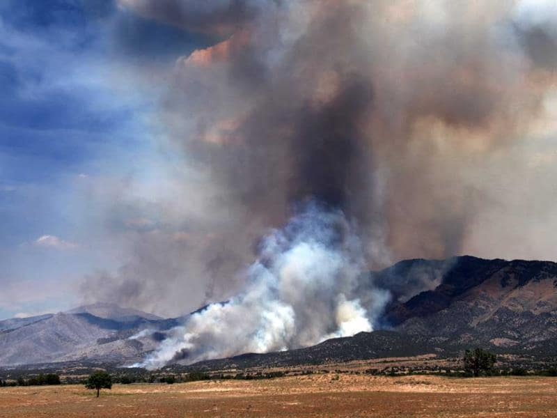 The Skull Valley Fire continues to burn near the Goshute Indian Reservation. (AP Photo)