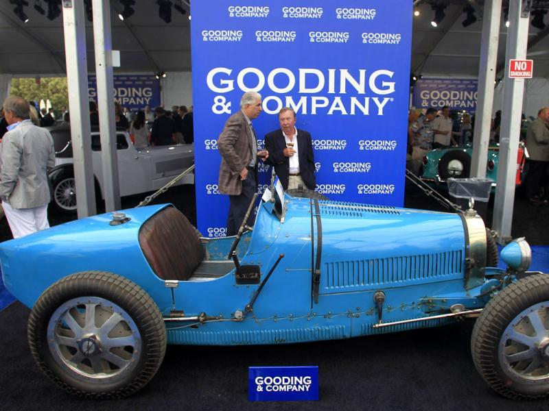 A 1926 Bugatti Type 35 Grand Prix is displayed at the Gooding & Company auction pavilion in Pebble Beach, California. The auctioneer is expecting to fetch about $3 million when the vintage race model is put on the block this weekend. (Reuters Photo)