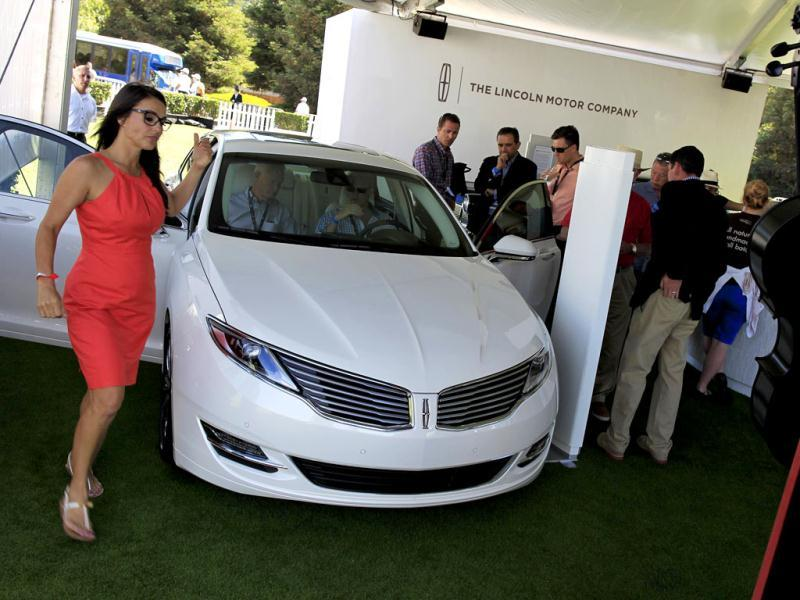 A Lincoln MKZ sedan is displayed during The Quail, A Motorsports Gathering, in Carmel, California. (Reuters Photo)