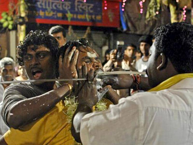 A still from the Murugan festival, Mumbai. (Photo: Kunal Khullar)