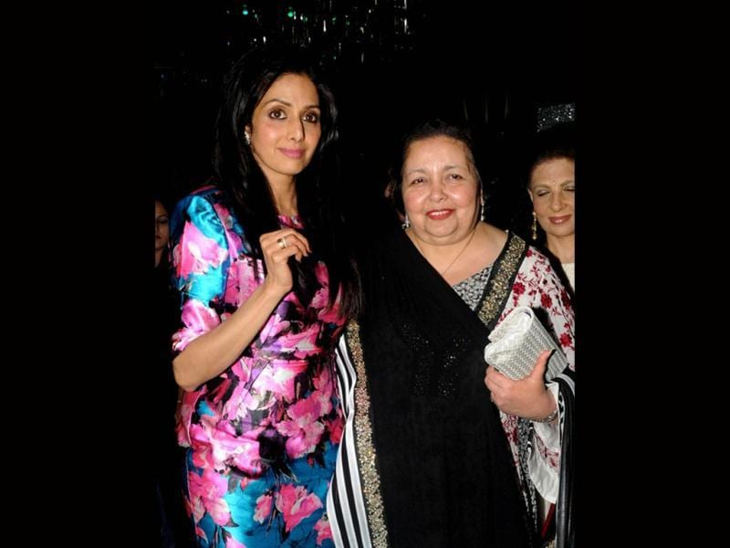 Film producer Pamela Chopra was also present at the 50th birthday bash of Sridevi on August 17, 2013. (AFP Photo)