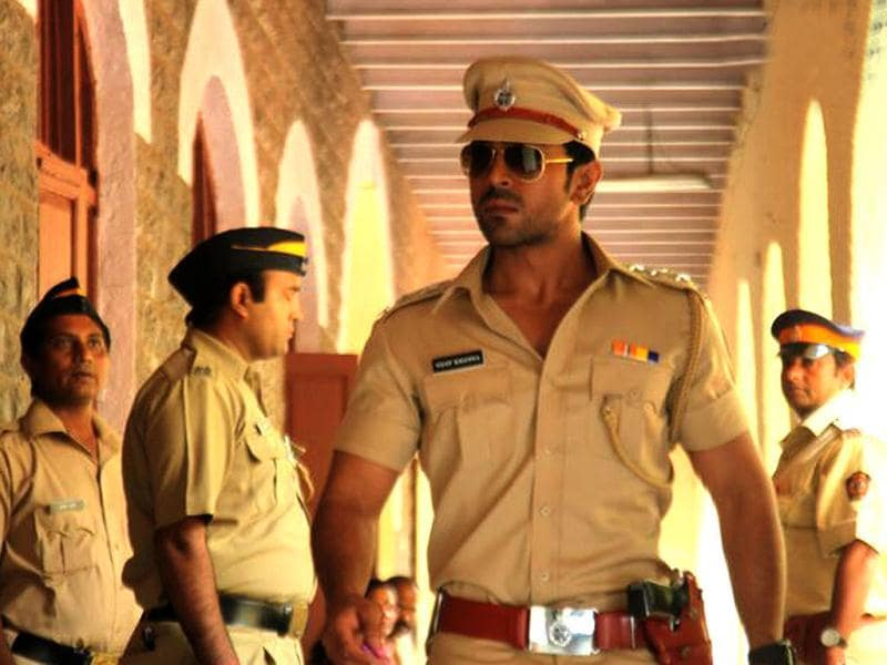 Teja plays the classic Amitabh styled cop from the old Zanjeer.