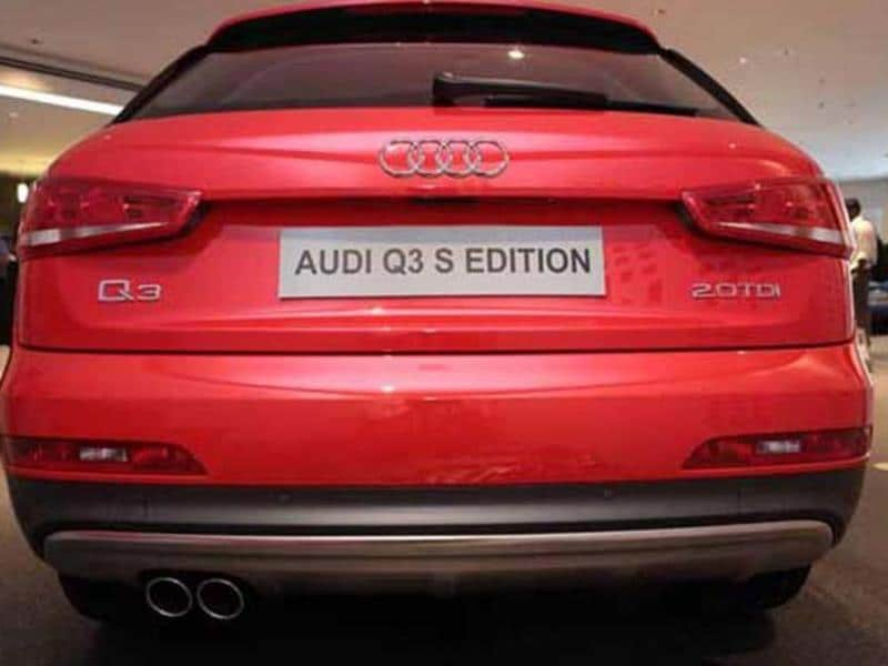 Rear styling remains similar to the regular Audi Q3.