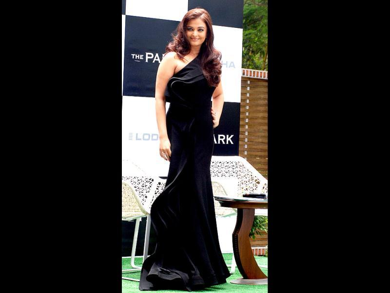 Aishwarya shines in the black dress. (AFP Photo)