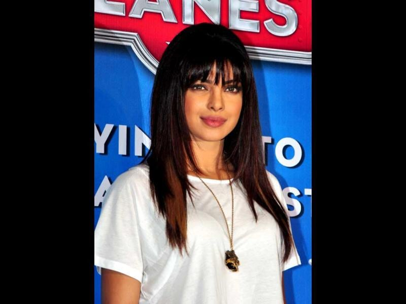 Priyanka Chopra at a promotional event for Planes. (AFP Photo)