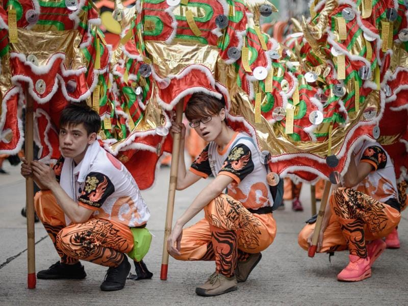 The Hungry Ghost festival marks the belief that the 'Gates of Hell' are opened to let out the hungry ghosts who then wander in the land of the living while foraging for food. (AFP Photo)