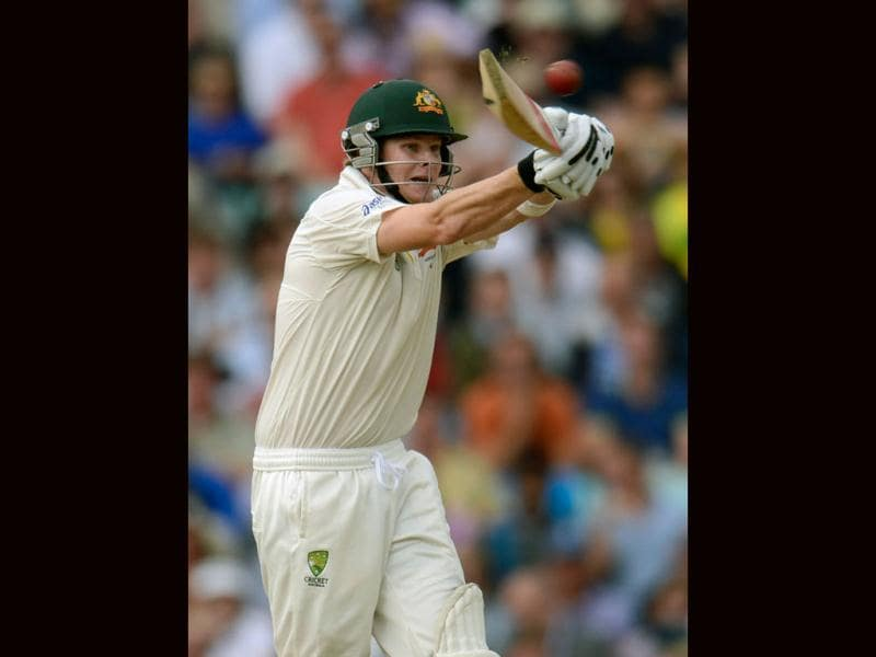 Australia's Steven Smith hits out during the fifth Ashes cricket test match against England at The Oval cricket ground in London. (Reuters Photo)