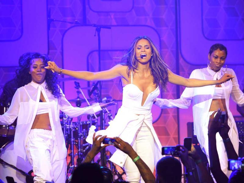 Musician Ciara (C) performs at Easy, Breezy, Brooklyn hosted by Becky G and presented by MTV and COVERGIRL at Music Hall of Williamsburg in the Brooklyn borough of New York City. (AFP Photo)