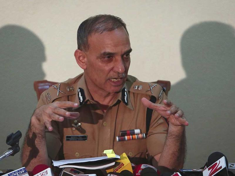 Mumbai Police commissioner Satyapal Singh addresses a press conference in Mumbai. (AFP Photo)