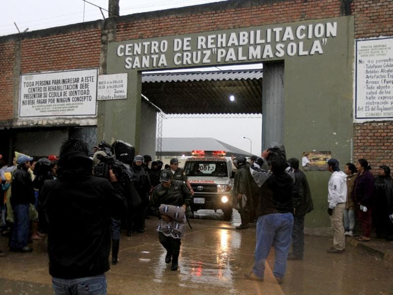 Violent clashes between inmates in the maximum-security prison in Bolivia killed at least 29 people, including one child, officials said. Reuters photo