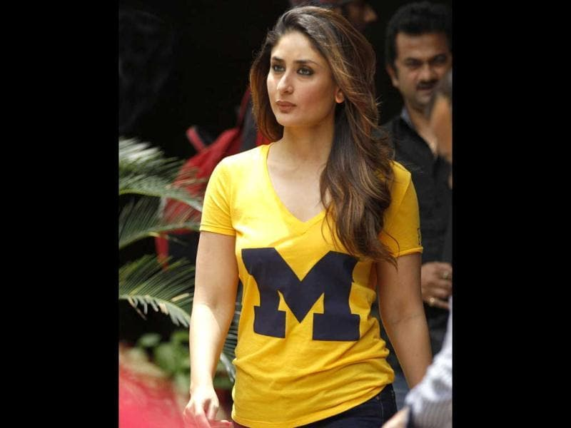 Kareena Kapoor arrives for the event. (AP)