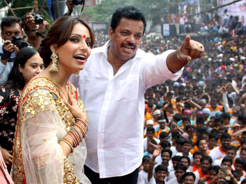 Bipasha Basu during Dahi handi celebrations