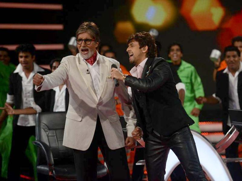 Sonu Nigam was seen with Amitabh Bachchan on September 6 when the later's game show Kaun Banega Crorepati 7 kick-started.