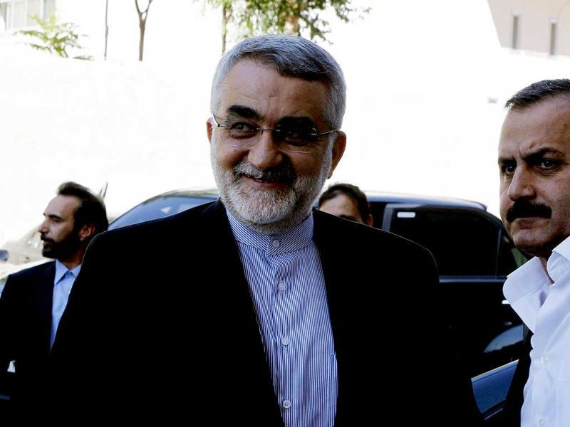 Alaeddin Boroujerdi, head of the Iranian parliamentary committee for national security and foreign policy, arrives in Damascus. Reuters photo