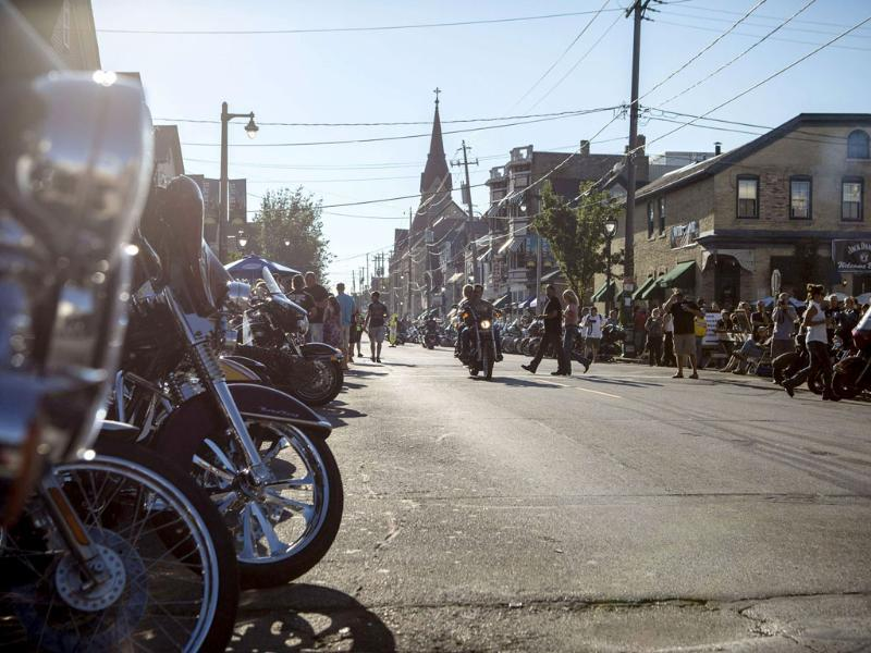 Tens of thousands of Harley-Davidson enthusiasts from all corners of the globe made the pilgrimage to Milwaukee for the motorcycle maker's 110th anniversary celebration over Labor Day weekend. (Reuters Photo)