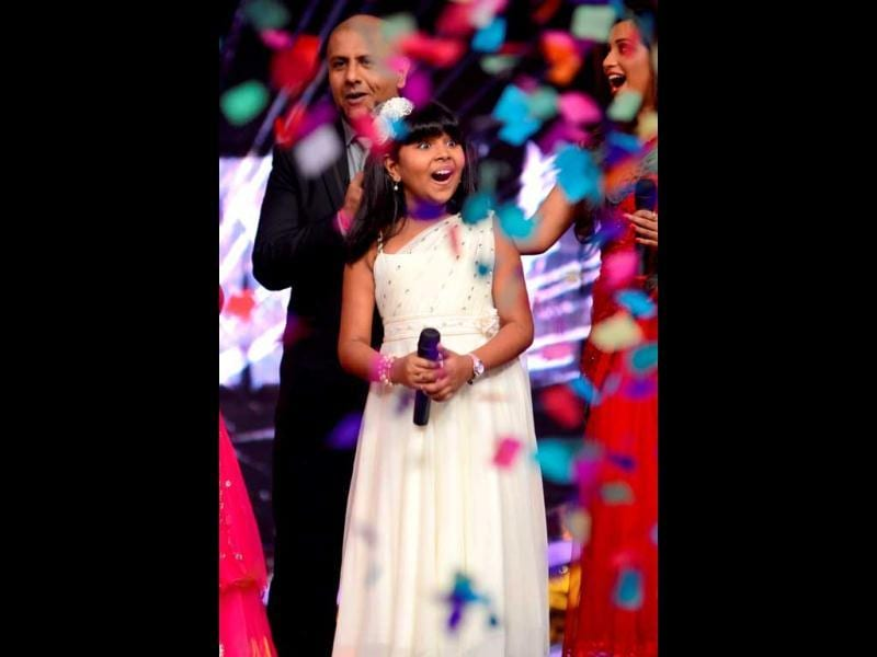 Winning moment: Anjana Padmanabhan couldn't believe her ears when her name was announced as a winner.