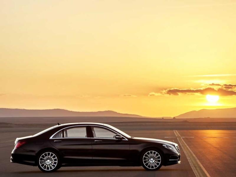 Mercedes-Benz S-Class with Sport Package comes with laminated glass windows. AFP