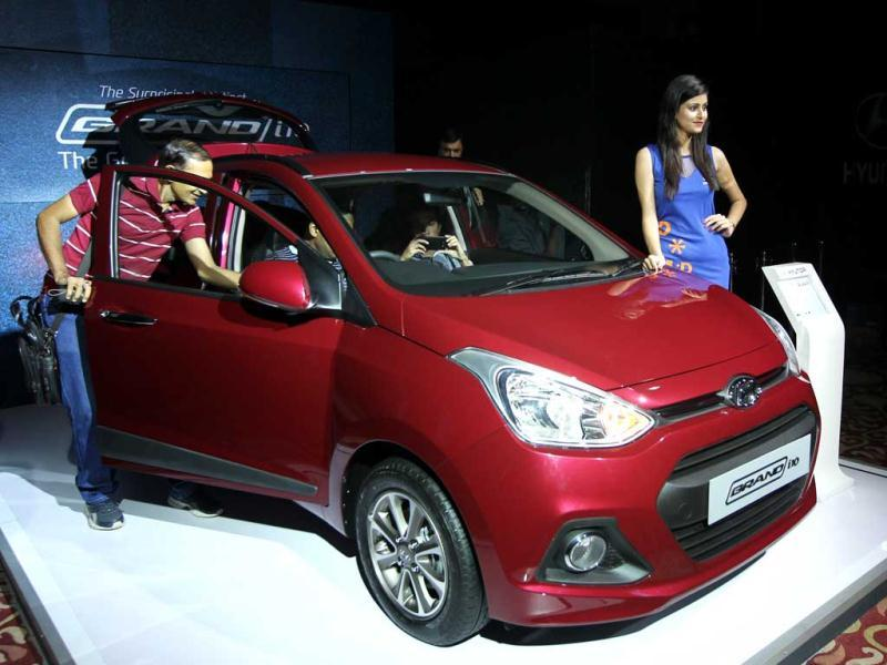 Hyundai launches Grand i10 in diesel and petrol variants. (Photo by Ajay Aggarwal / Hindustan Times)