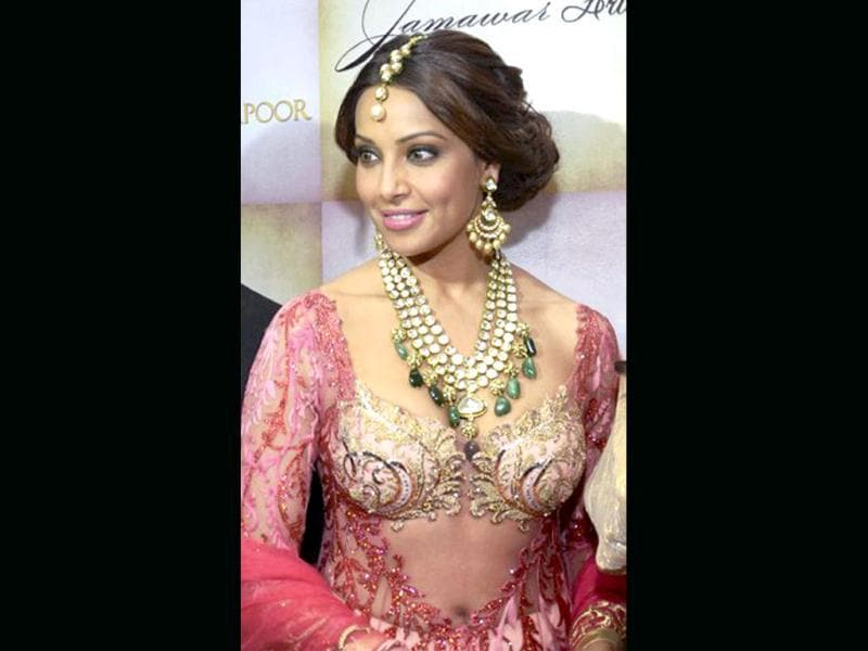 Bipasha Basu poses for the lenses at a fashion show in New Delhi.