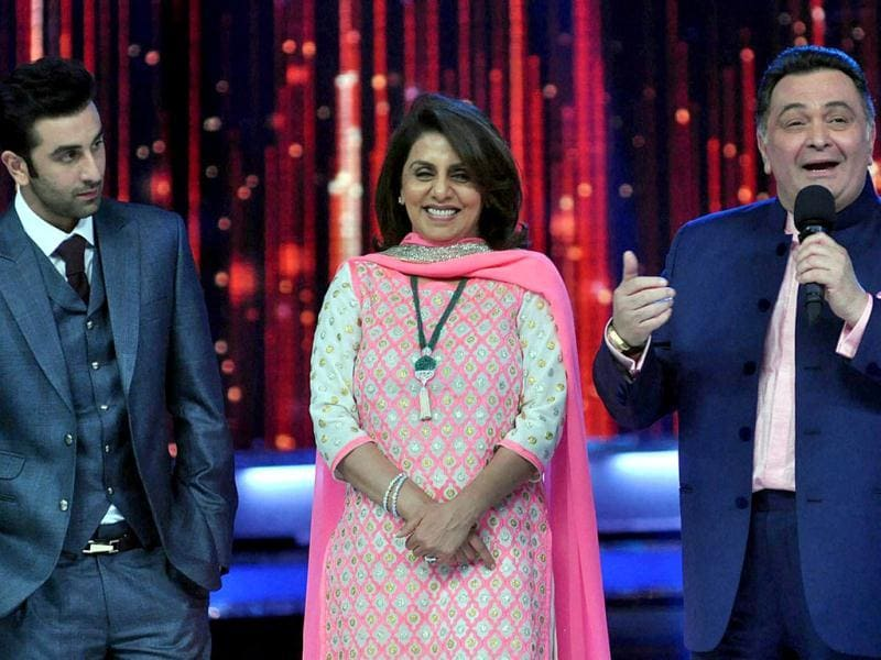 Rishi, Neetu and Ranbir spend a quality time at Jhalak.
