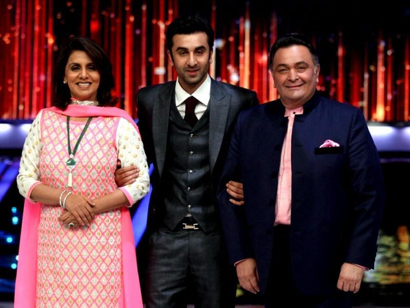 Meet my mom, dad: Ranbir Kapoor poses with mom Neetu Singh and dad Rishi Kapoor.