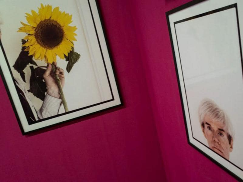 Portrait of Amarican artist Andy Warhol taken by British photographer Steave Wood is displayed at the exibition 'Lost Then Found' during ArtRio, the International Art Fair of Rio de Janeiro, Brazil. (AFP Photo)
