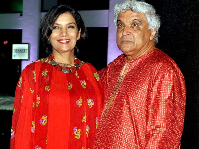 Javed Akhtar's bright kids - Farhan and Zoya - are from his first marriage with Honey Irani. Shabana is his second wife.(AFP Photo)