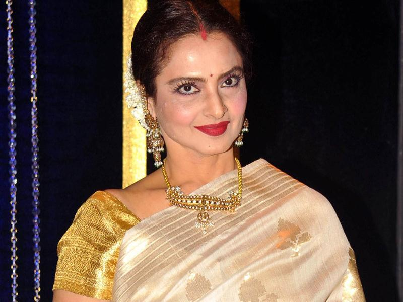 Rekha looks gorgeous as ever. (AFP Photo)