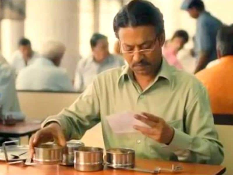 Irrfan gets a letter in The Lunchbox.