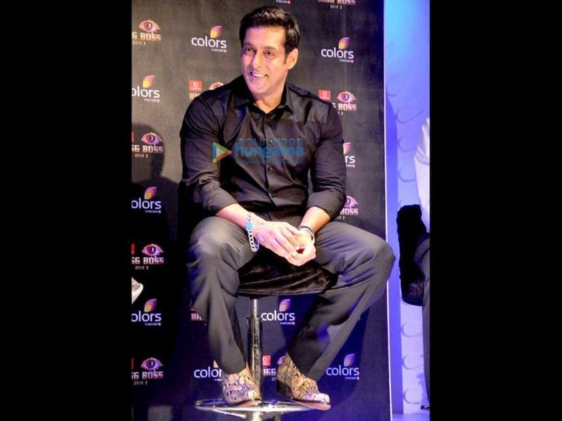 Salman Khan at the launch of Bigg Boss 7.