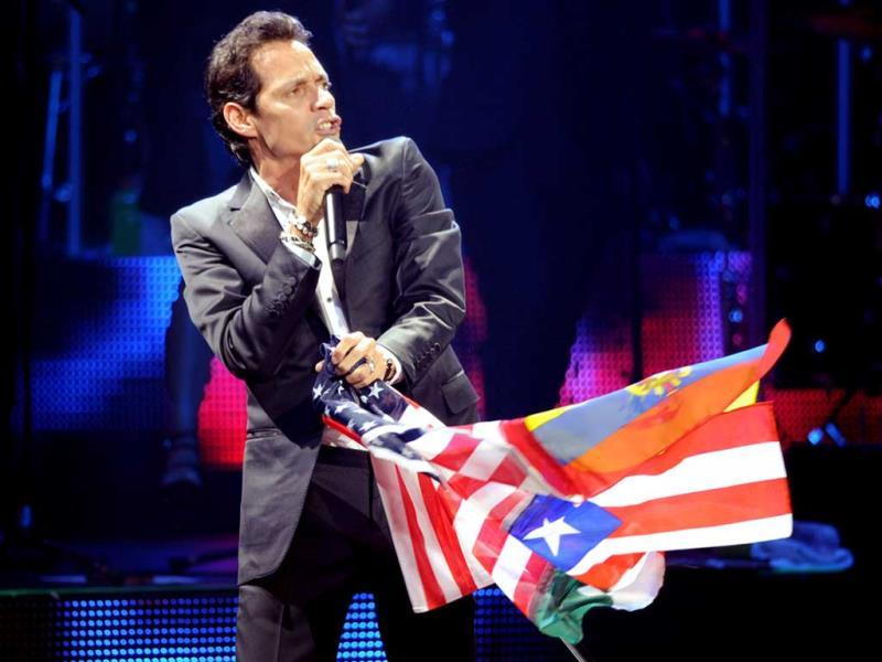 Marc Anthony performs at The Pearl in Las Vegas. (AP Photo)