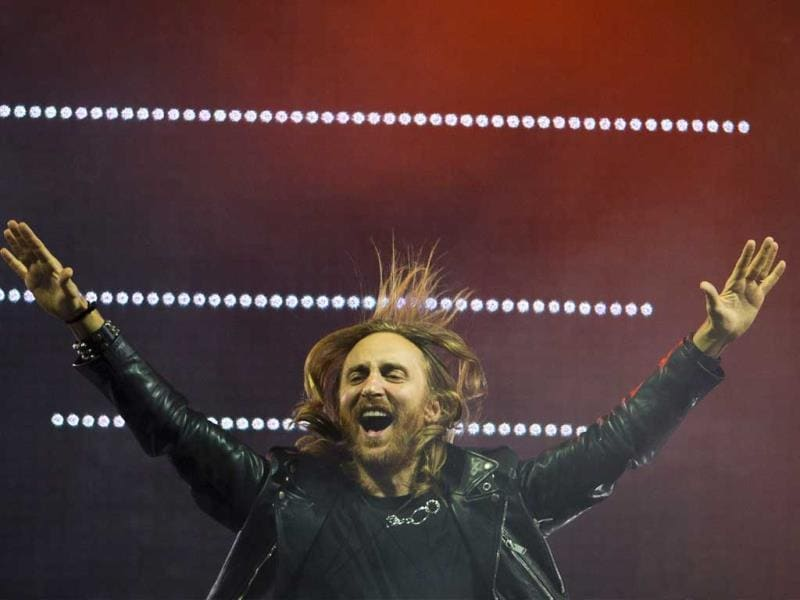 French recording artist David Guetta performs at the opening night of the 5th annual Rock in Rio music festival, in Rio de Janeiro, Brazil. (AP Photo)