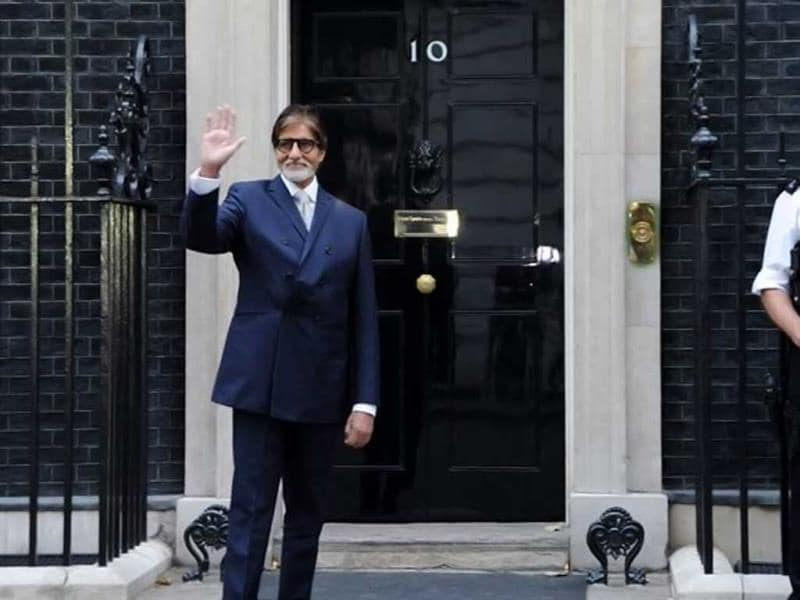 Big B at 10, Downing Street, historic edifice of iconic proportions, as Guest of Honor for the Silver Star Charity that works at detecting diabetes all across the world. (Photo: Facebook/SrBachchan)